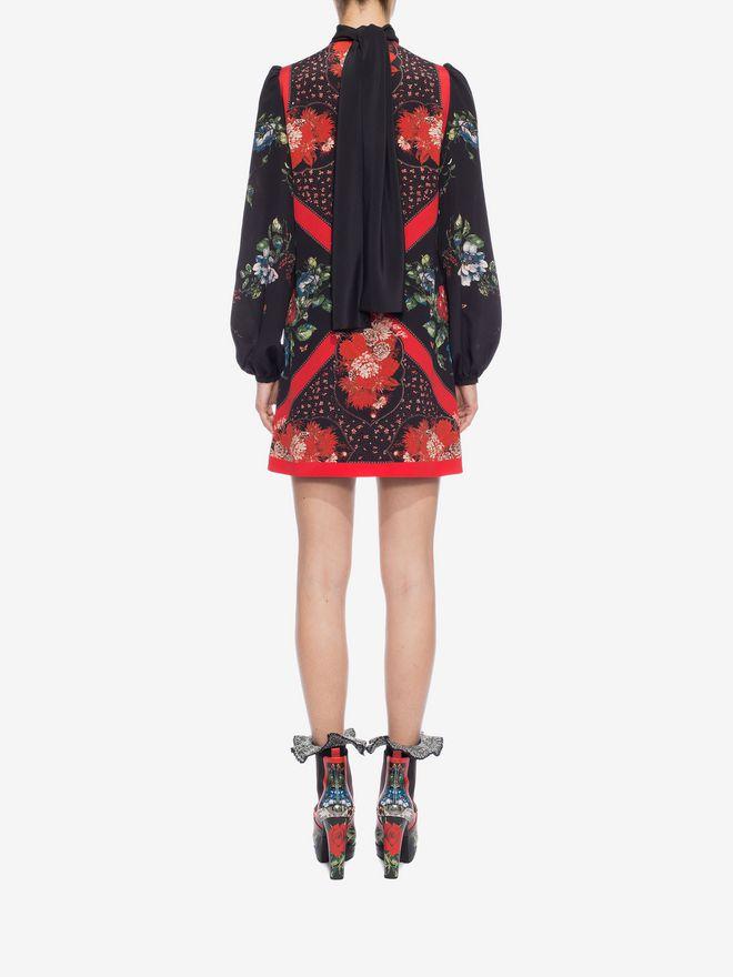 ALEXANDER MCQUEEN Mini Dress with Scarf Detail Mini Dress D e