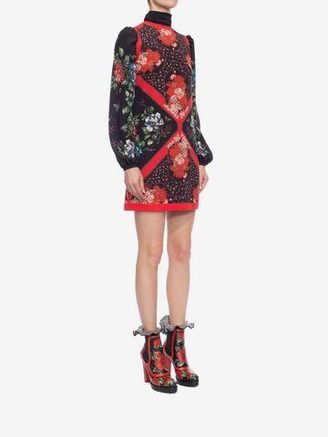 ALEXANDER MCQUEEN Mini Dress with Scarf Detail Mini Dress D d