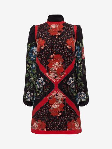 ALEXANDER MCQUEEN Mini Dress with Scarf Detail Mini Dress D f