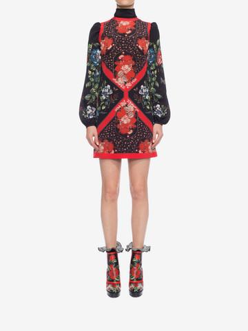 ALEXANDER MCQUEEN Mini Dress with Scarf Detail Mini Dress D r