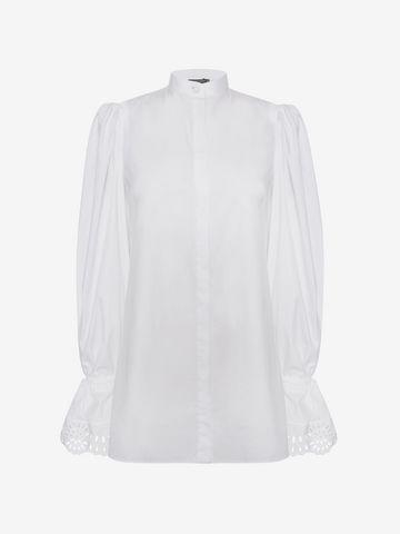 ALEXANDER MCQUEEN Exaggerated Sleeve Shirt Shirts Woman f