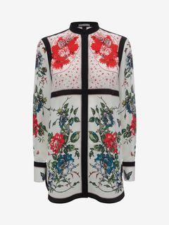 ALEXANDER MCQUEEN Top D Floral Mandarin Collar Shirt f