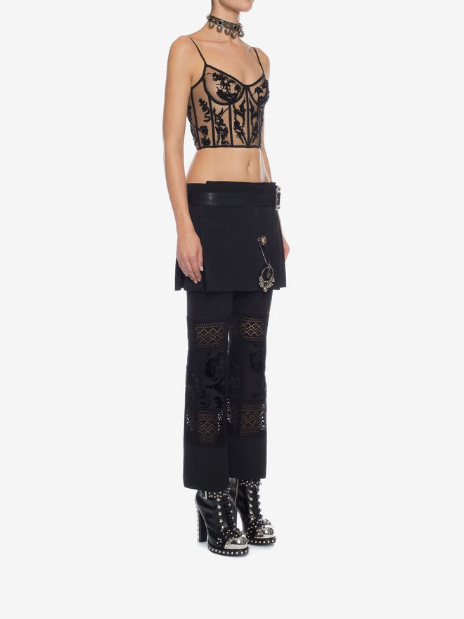 ALEXANDER MCQUEEN Embroidered Bustier Top Top Woman d