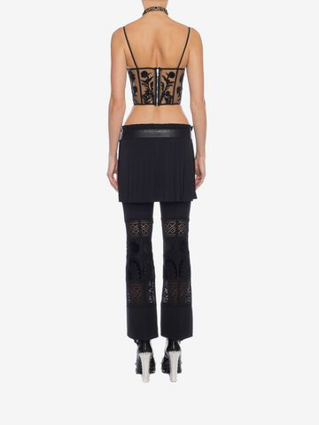 ALEXANDER MCQUEEN Embroidered Bustier Top Top D e