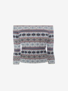 ALEXANDER MCQUEEN Top D Off-the-Shoulder Jacquard Top f