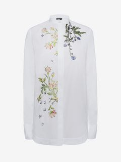 ALEXANDER MCQUEEN Shirts D Embroidered Poplin Shirt f