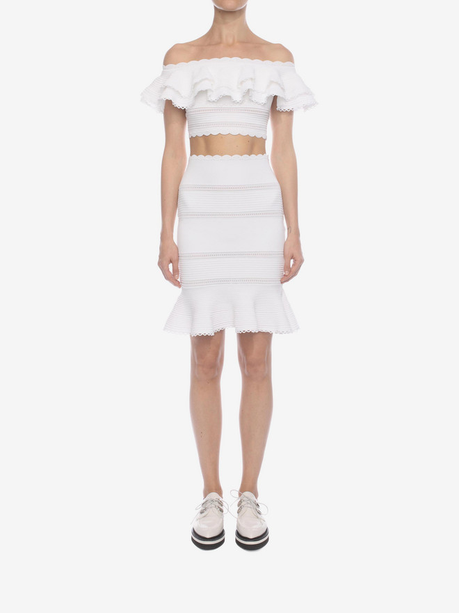 ALEXANDER MCQUEEN Off the Shoulder Cropped Top Top & Shirt D r