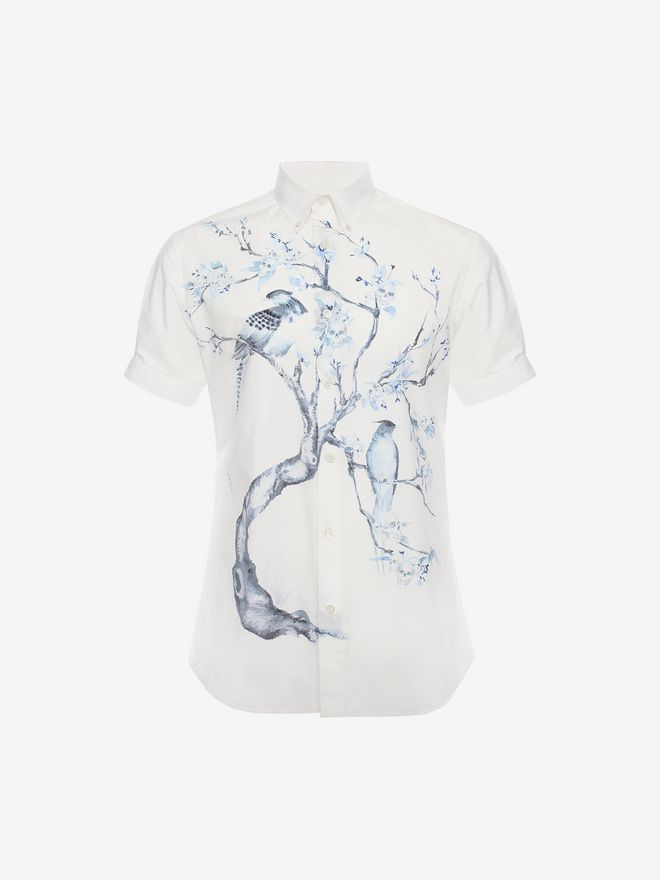 ALEXANDER MCQUEEN Tree Print Shirt Short Sleeve Shirt U a