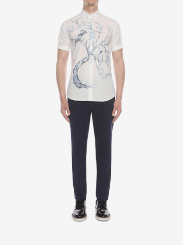 ALEXANDER MCQUEEN Tree Print Shirt Short Sleeve Shirt U r