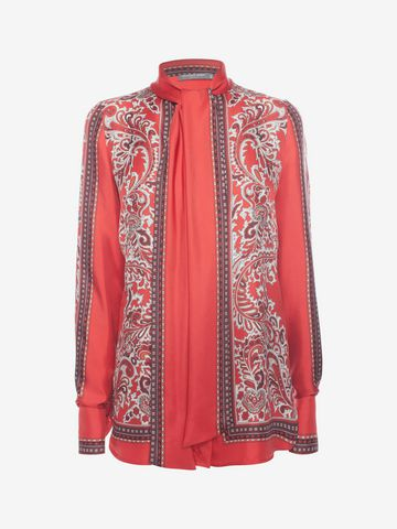 Latest Alexander Mcqueen Paisley Print Blouse For Women