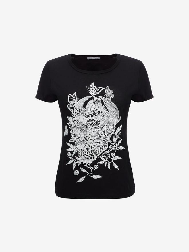 ALEXANDER MCQUEEN Skull Fit T-Shirt Top & Shirt D f