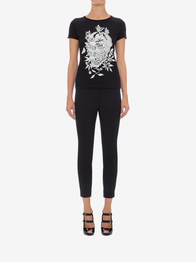 ALEXANDER MCQUEEN Skull Fit T-Shirt Top & Shirt D r