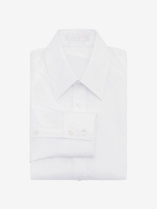 ALEXANDER MCQUEEN 长袖衬衫 U 珠地甲胄衬衫 f