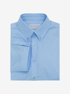 ALEXANDER MCQUEEN Short Sleeve Shirt U Stretch Poplin Shirt f