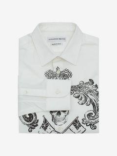 ALEXANDER MCQUEEN Long Sleeve Shirt U Crest Printed Shirt f