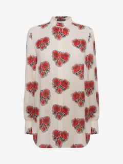 ALEXANDER MCQUEEN Shirts D Poppy Print Shirt f