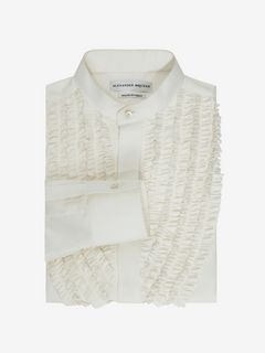 ALEXANDER MCQUEEN Long Sleeve Shirt U Silk Habotai Shirt f
