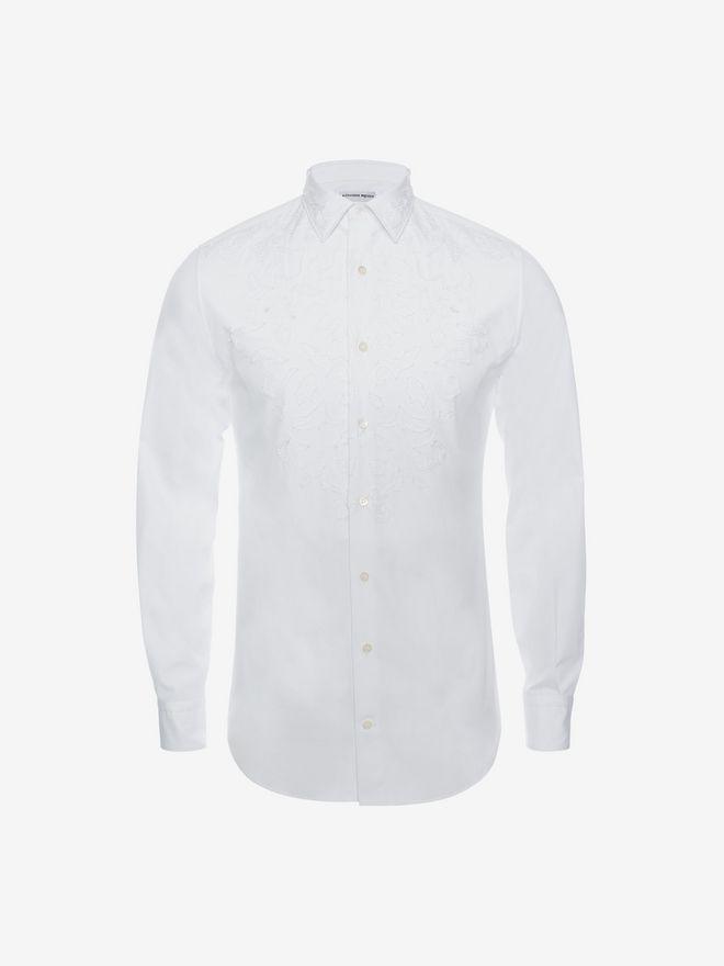 ALEXANDER MCQUEEN Cotton Poplin Shirt Long Sleeve Shirt U a