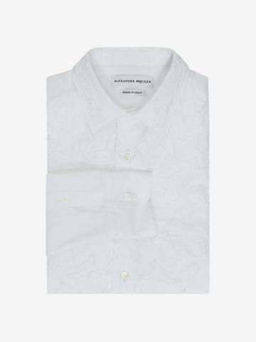 ALEXANDER MCQUEEN Cotton Poplin Shirt Long Sleeve Shirt U f