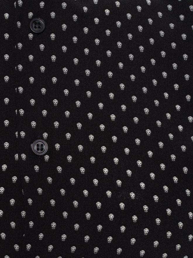 ALEXANDER MCQUEEN Mini Skull Silk Crepe Shirt Long Sleeve Shirt Man l