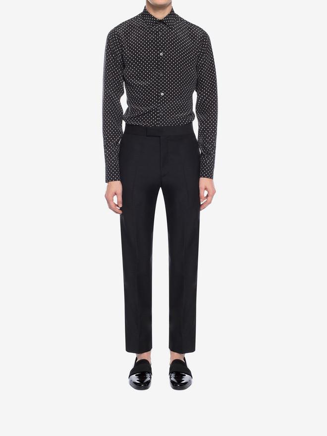 ALEXANDER MCQUEEN Mini Skull Silk Crepe Shirt Long Sleeve Shirt Man r