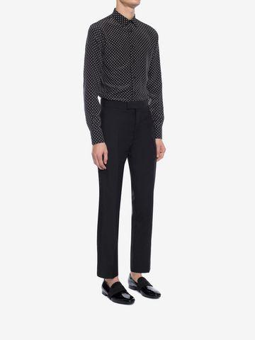 ALEXANDER MCQUEEN Mini Skull Silk Crepe Shirt Long Sleeve Shirt Man d