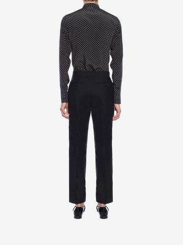 ALEXANDER MCQUEEN Mini Skull Silk Crepe Shirt Long Sleeve Shirt Man e