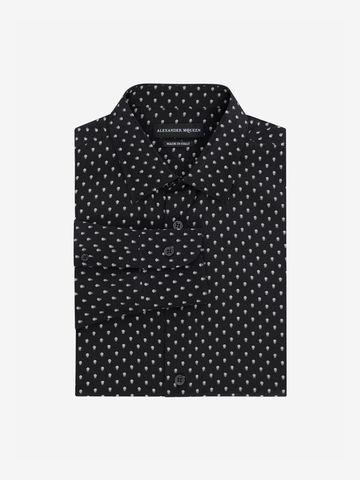 ALEXANDER MCQUEEN Mini Skull Silk Crepe Shirt Long Sleeve Shirt Man f