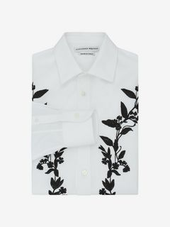 ALEXANDER MCQUEEN Long Sleeve Shirt U Floral Embroidered Shirt f