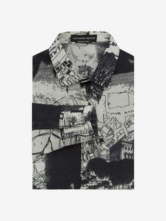 "ALEXANDER MCQUEEN Long Sleeve Shirt U ""London Map"" Printed Shirt f"