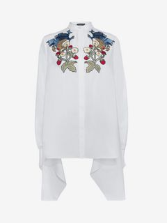 ALEXANDER MCQUEEN Shirts D Drape Embroidered Shirt f