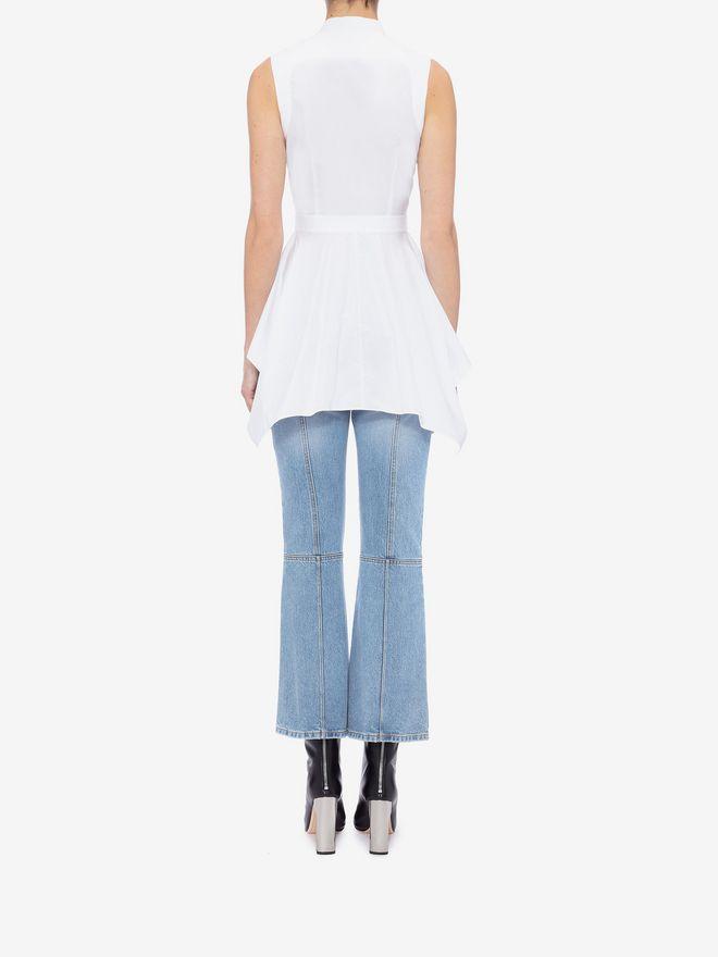 ALEXANDER MCQUEEN Sleeveless Peplum Shirt Shirts Woman e