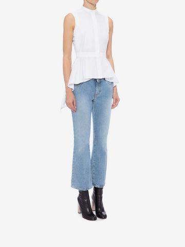 ALEXANDER MCQUEEN Sleeveless Peplum Shirt Shirts Woman d