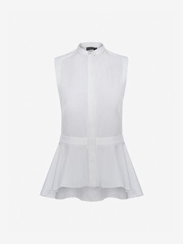 ALEXANDER MCQUEEN Sleeveless Peplum Shirt Shirts Woman f