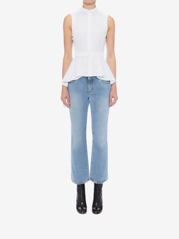 ALEXANDER MCQUEEN Sleeveless Peplum Shirt Shirts Woman r
