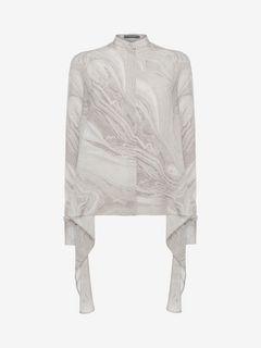 ALEXANDER MCQUEEN Shirts D Marble Print Shirt f