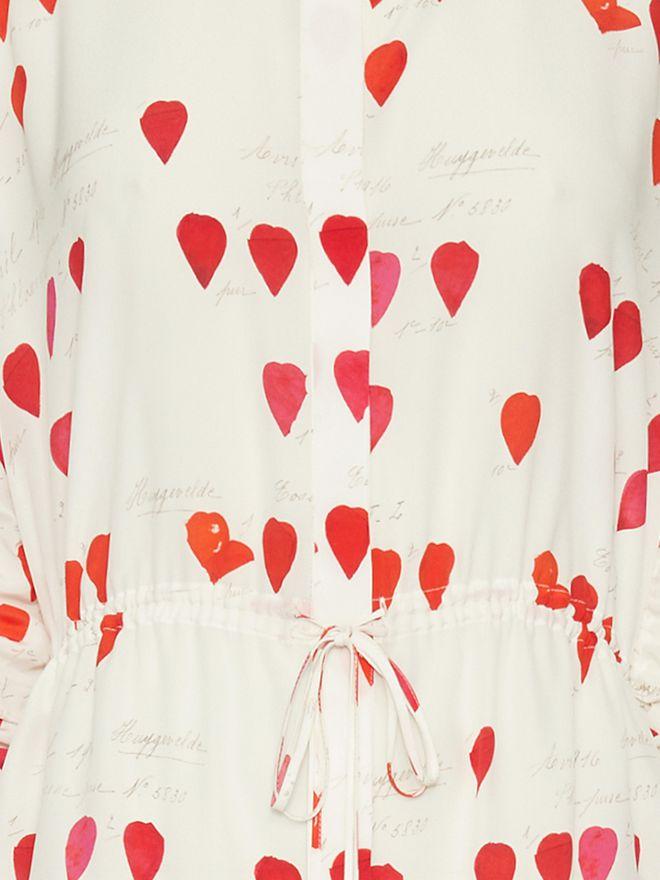 ALEXANDER MCQUEEN Petal Print Frock Shirt Shirts Woman a