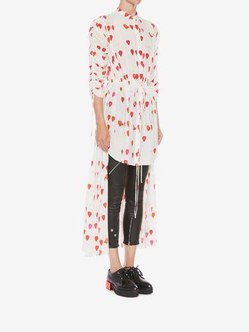 ALEXANDER MCQUEEN Petal Print Frock Shirt Shirts Woman d
