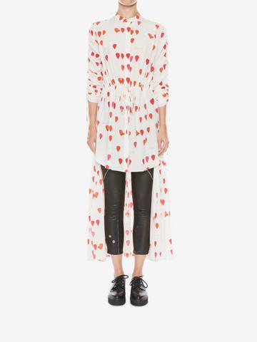 ALEXANDER MCQUEEN Petal Print Frock Shirt Shirts Woman r