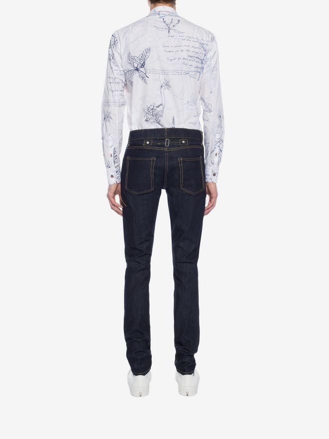ALEXANDER MCQUEEN Explorer Print Fitted Shirt Long Sleeve Shirt Man e