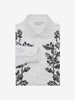 ALEXANDER MCQUEEN Long Sleeve Shirt Man Floral Embroidered Shirt f