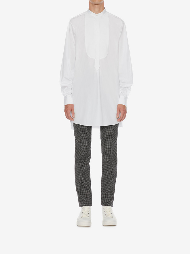ALEXANDER MCQUEEN Organic Cotton Oversize Shirt Long Sleeve Shirt Man r