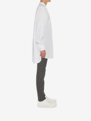 ALEXANDER MCQUEEN Organic Cotton Oversize Shirt Long Sleeve Shirt Man d