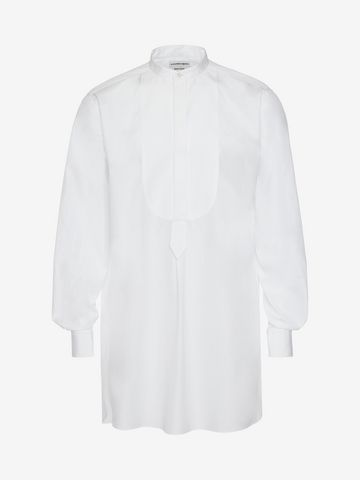 ALEXANDER MCQUEEN Organic Cotton Oversize Shirt Long Sleeve Shirt Man f