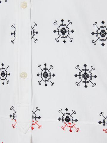 ALEXANDER MCQUEEN Folk Embroidery Patchwork Shirt Long Sleeve Shirt U a