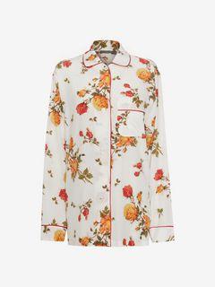 ALEXANDER MCQUEEN Shirts Woman Scarf Print Pyjama Shirt f