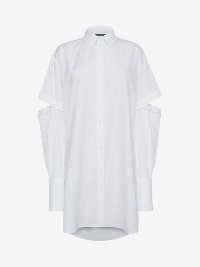 ALEXANDER MCQUEEN Oversized Poplin Shirt Shirts Woman f
