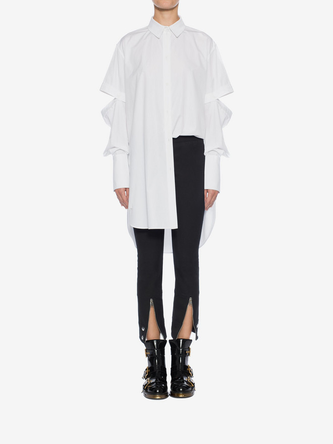 ALEXANDER MCQUEEN Oversized Poplin Shirt Shirts Woman r