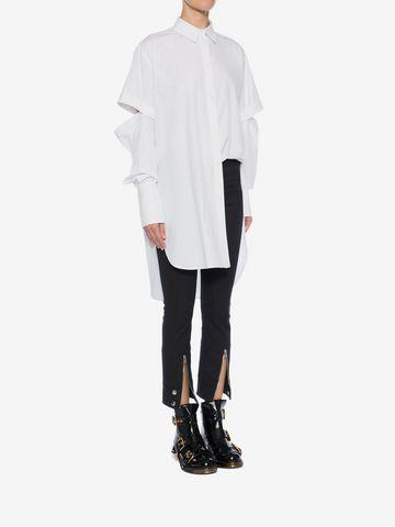 ALEXANDER MCQUEEN Oversized Poplin Shirt Shirts Woman d