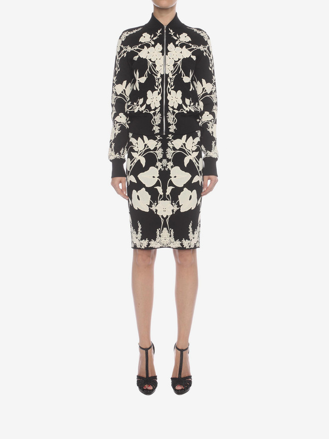 ALEXANDER MCQUEEN Belle Epoque Jacquard Knit Cardigan Knitwear D r